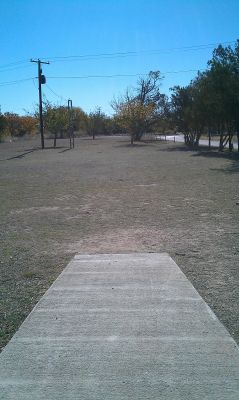 Comanche Trail Park, Main course, Hole 18 Tee pad