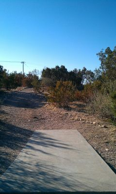 Comanche Trail Park, Main course, Hole 1 Tee pad