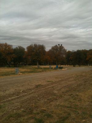 Brady Disc Golf Course, Main course, Hole 16 Tee pad