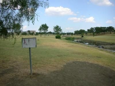 Greenbelt Park, Main course, Hole 1 Tee pad