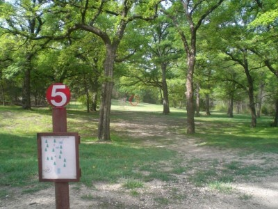 Lester Lorch Park, Beaver, Hole 5 Tee pad