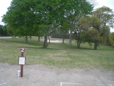 Lester Lorch Park, Beaver, Hole 2 Tee pad