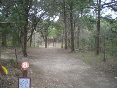 Lester Lorch Park, Coyote, Hole 8 Tee pad