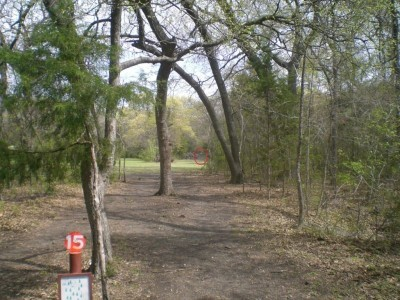 Lester Lorch Park, Coyote, Hole 15 Tee pad