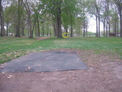 Starr-Jaycee Park, Main course, Hole 9 Tee pad