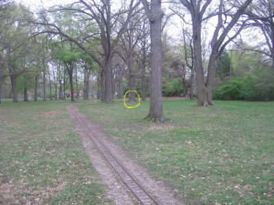 Starr-Jaycee Park, Main course, Hole 2 Midrange approach