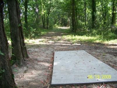 McDade Park, Main course, Hole 3 Tee pad