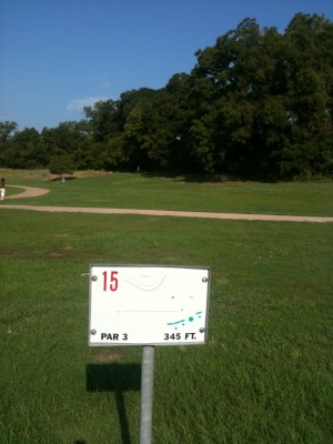 Andrew Brown Park, Main course, Hole 15 Tee pad