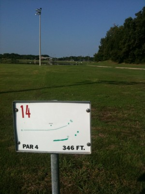 Andrew Brown Park, Main course, Hole 14 Tee pad