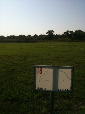 Andrew Brown Park, Main course, Hole 18 Tee pad