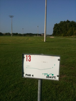 Andrew Brown Park, Main course, Hole 13 Tee pad