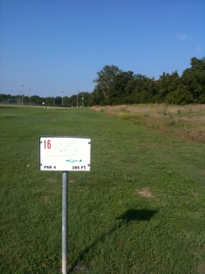 Andrew Brown Park, Main course, Hole 16 Tee pad