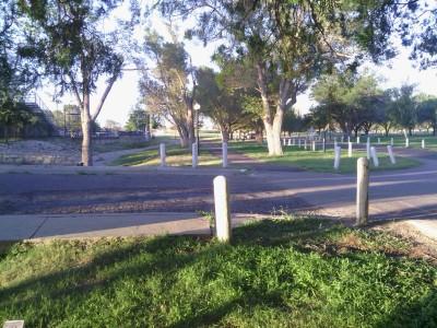 Fort Stockton DGC, Main course, Hole 12 Tee pad