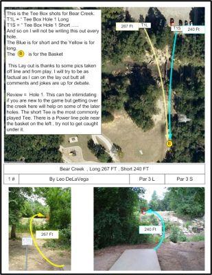 Bear Creek, Main course, Hole 1 Tee pad