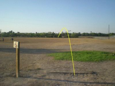 Dixieland Park, Main course, Hole 5 Tee pad