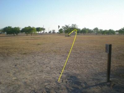 Dixieland Park, Main course, Hole 6 Tee pad