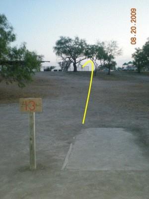 Dixieland Park, Main course, Hole 13 Tee pad