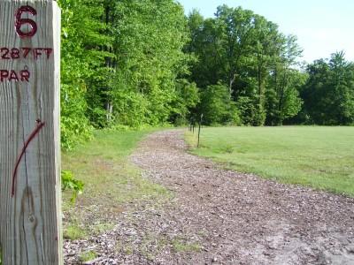 Rycenga Park, Main course, Hole 6 Tee pad