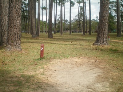TC Jester Park, Main course, Hole 2 Long tee pad