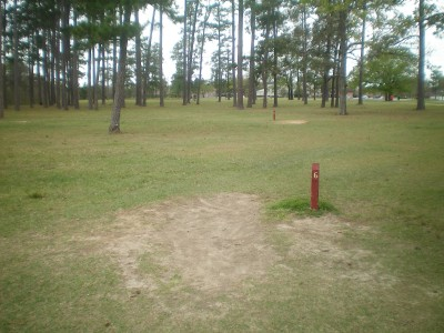 TC Jester Park, Main course, Hole 6 Long tee pad