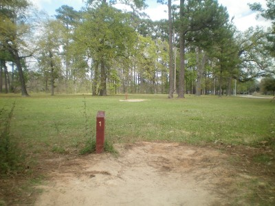TC Jester Park, Main course, Hole 1 Long tee pad