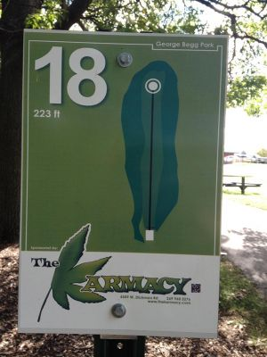 Begg Park, Main course, Hole 18 Hole sign