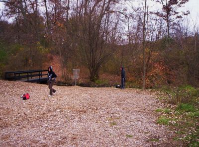 Begg Park, Main course, Hole 13 Short approach