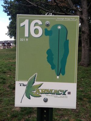 Begg Park, Main course, Hole 16 Hole sign