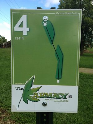 Begg Park, Main course, Hole 4 Hole sign