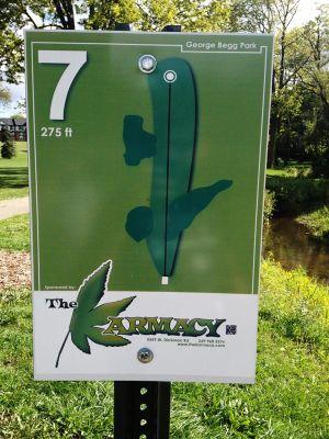 Begg Park, Main course, Hole 7 Hole sign