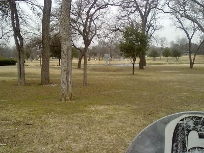 Fritz Park, Main course, Hole 6 Reverse (back up the fairway)