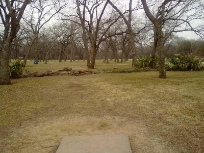 Fritz Park, Main course, Hole 9 Tee pad