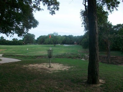 Fritz Park, Main course, Hole 3 Reverse (back up the fairway)