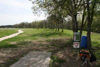 Steeplechase Park, Main course, Hole 17 Tee pad