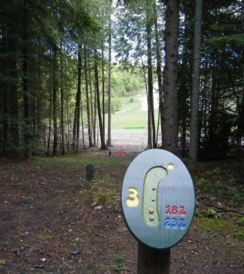 Silver Mountain, Main course, Hole 3 Tee pad