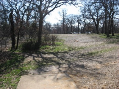 Lake Lewisville Park, Main course, Hole 8 Tee pad
