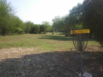 Live Oak City Park, Main course, Hole 17 Reverse (back up the fairway)