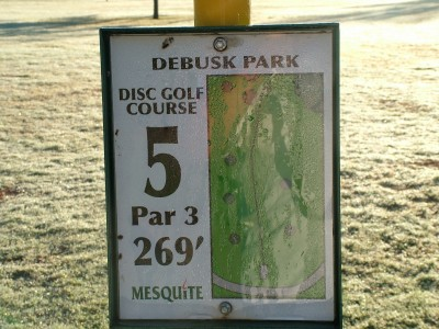 DeBusk Park, Main course, Hole 5 Hole sign