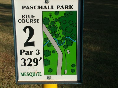Paschall Park, Main course, Hole 2 Hole sign