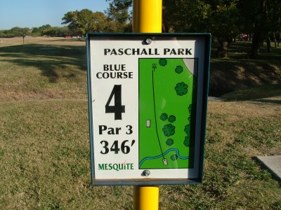 Paschall Park, Main course, Hole 4 Hole sign