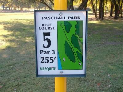 Paschall Park, Main course, Hole 5 Hole sign