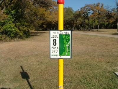 Paschall Park, Main course, Hole 8 Hole sign