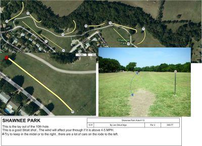 Shawnee Park, Main course, Hole 10 Tee pad
