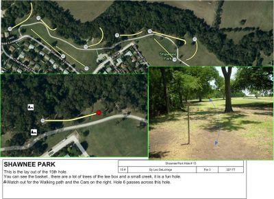 Shawnee Park, Main course, Hole 15 Tee pad