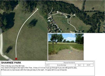 Shawnee Park, Main course, Hole 8 Tee pad