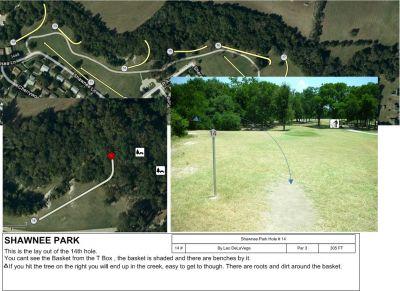 Shawnee Park, Main course, Hole 14 Tee pad