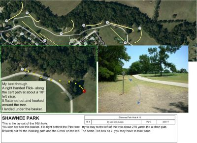 Shawnee Park, Main course, Hole 16 Tee pad