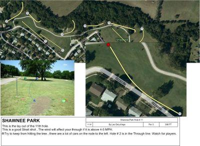 Shawnee Park, Main course, Hole 11 Tee pad