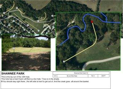 Shawnee Park, Main course, Hole 12 Tee pad
