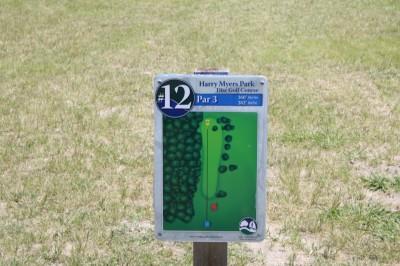 Harry Myers, Main course, Hole 12 Hole sign